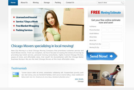 New City Moving Website